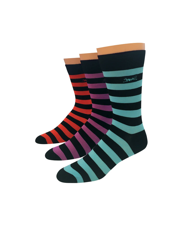 Striped 3pk Dress Socks