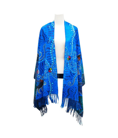 Breath of Life Art Print Shawl by Leah Dorion
