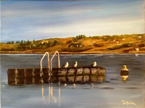 Gull Float Painting by Donna Muller