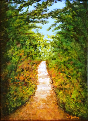 Walking the Path Painting by Donna Muller