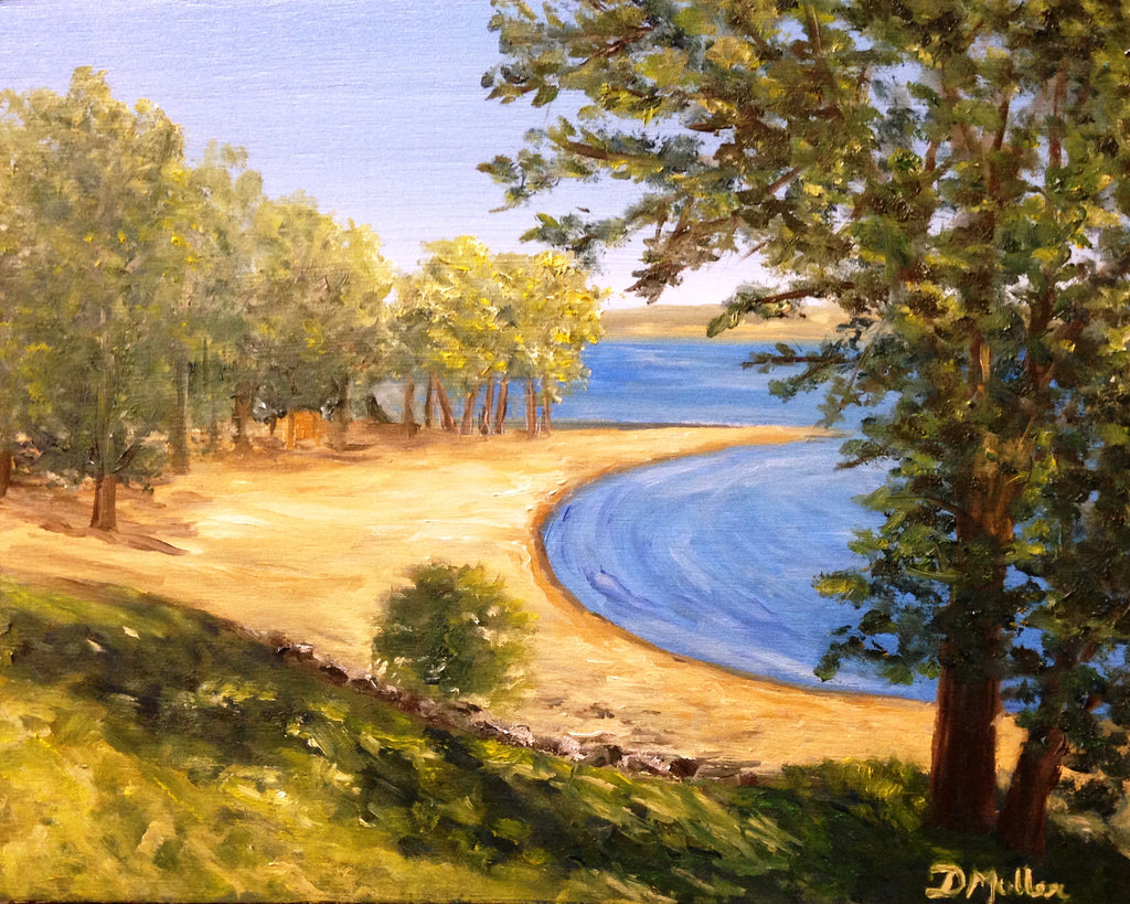 Regina Beach Painting by Donna Muller