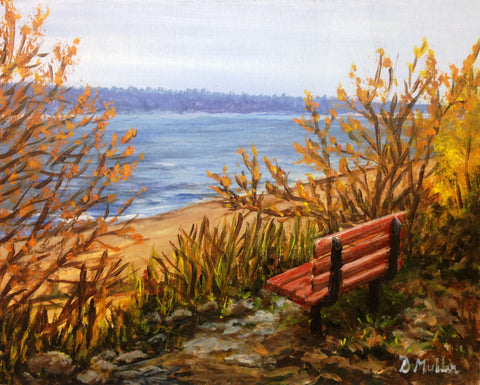 Break Time Painting by Donna Muller
