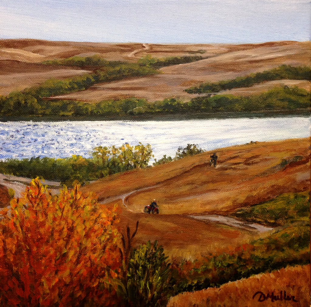 Lake View Ride Painting by Donna Muller
