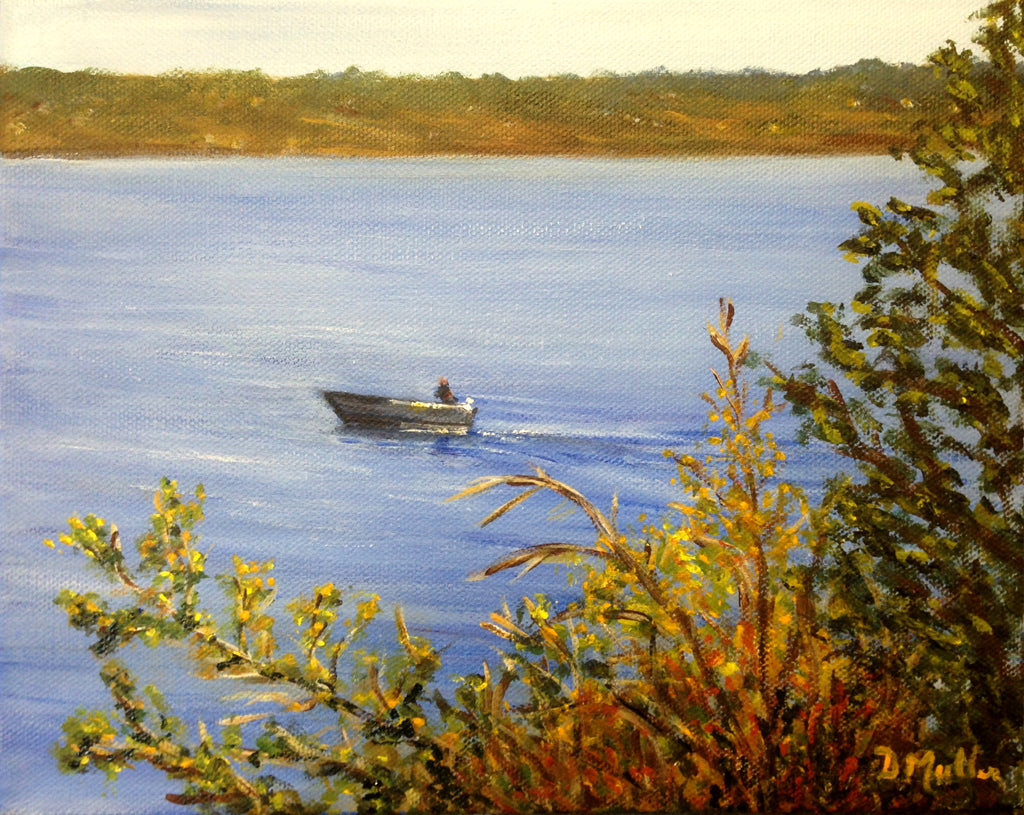Going Fishing Painting by Donna Muller
