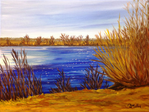 Spring Thaw Painting by Donna Muller