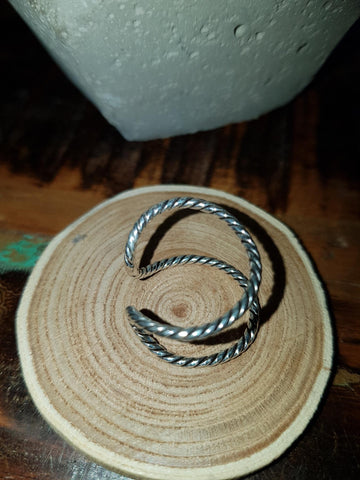 Braided Double Strand Ring