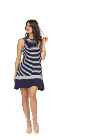 Papillon Striped Jersey ALine Dress