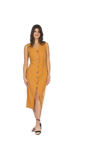 Papillon Button Front Midi Dress