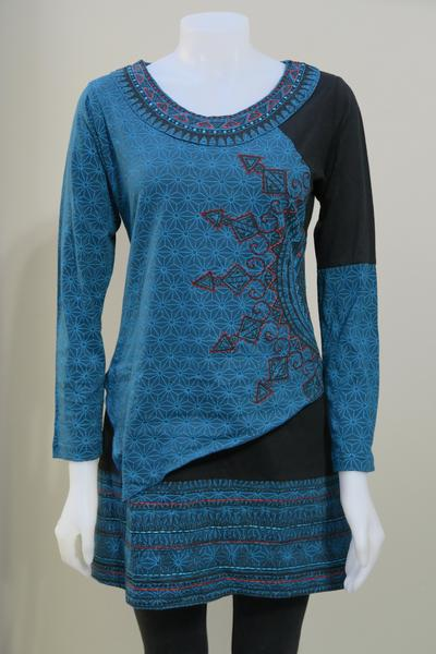 Leopards and Roses Necklace Tunic