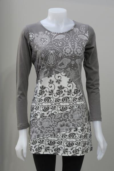 Leopards and Roses Organic Cotton Tunic