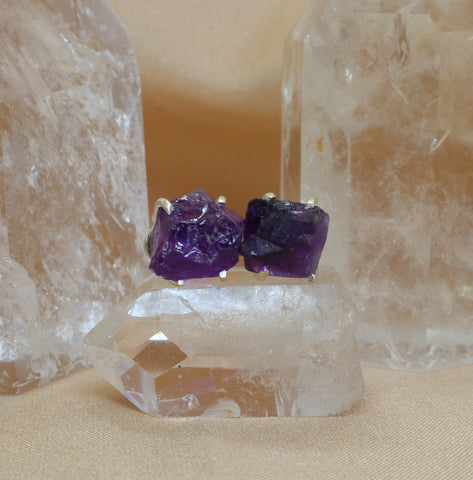 Sterling Silver Amethyst Studs