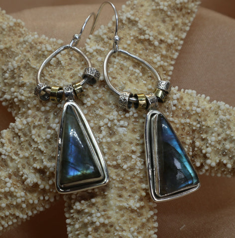 Triangle Stone Dangles