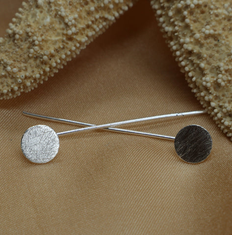 Modern Circle Post Earrings