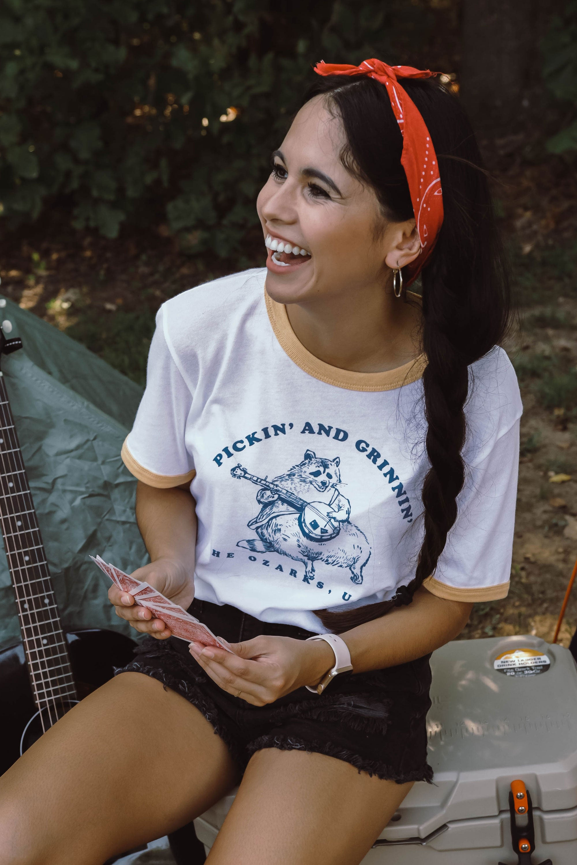 Pickin' And Grinnin' Ringer T-Shirt