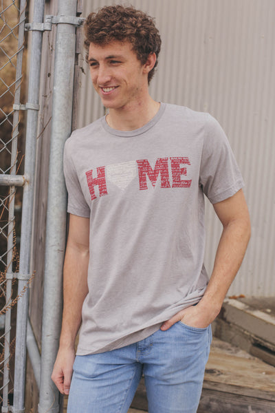 Baseball Home T-Shirt Athletic Grey