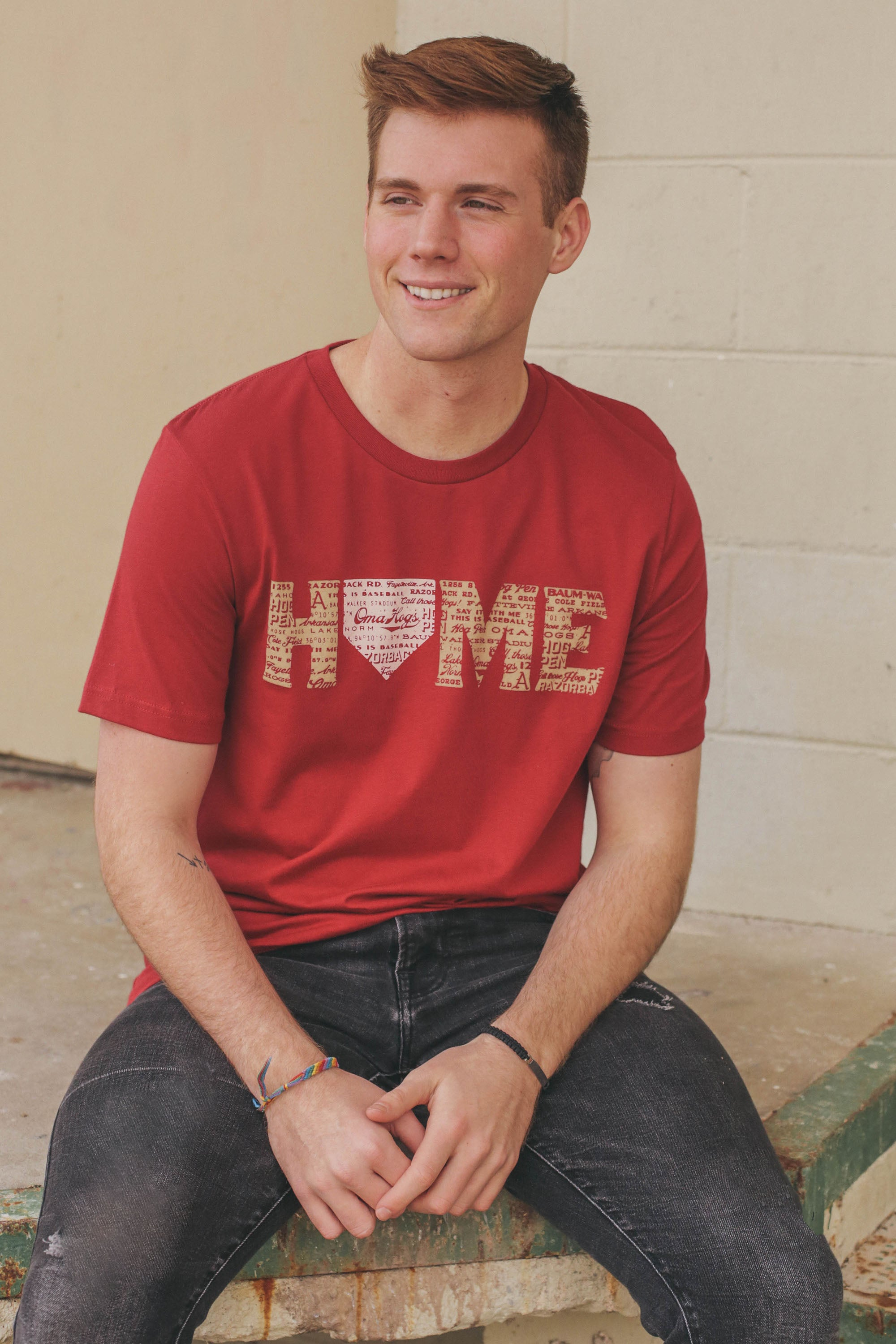 Baseball Home T-Shirt Cardinal Red