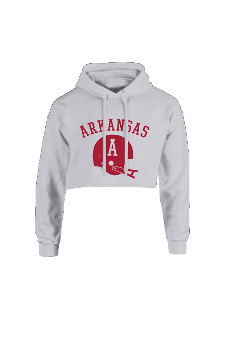 Old School Football Cropped Hoodie Storm