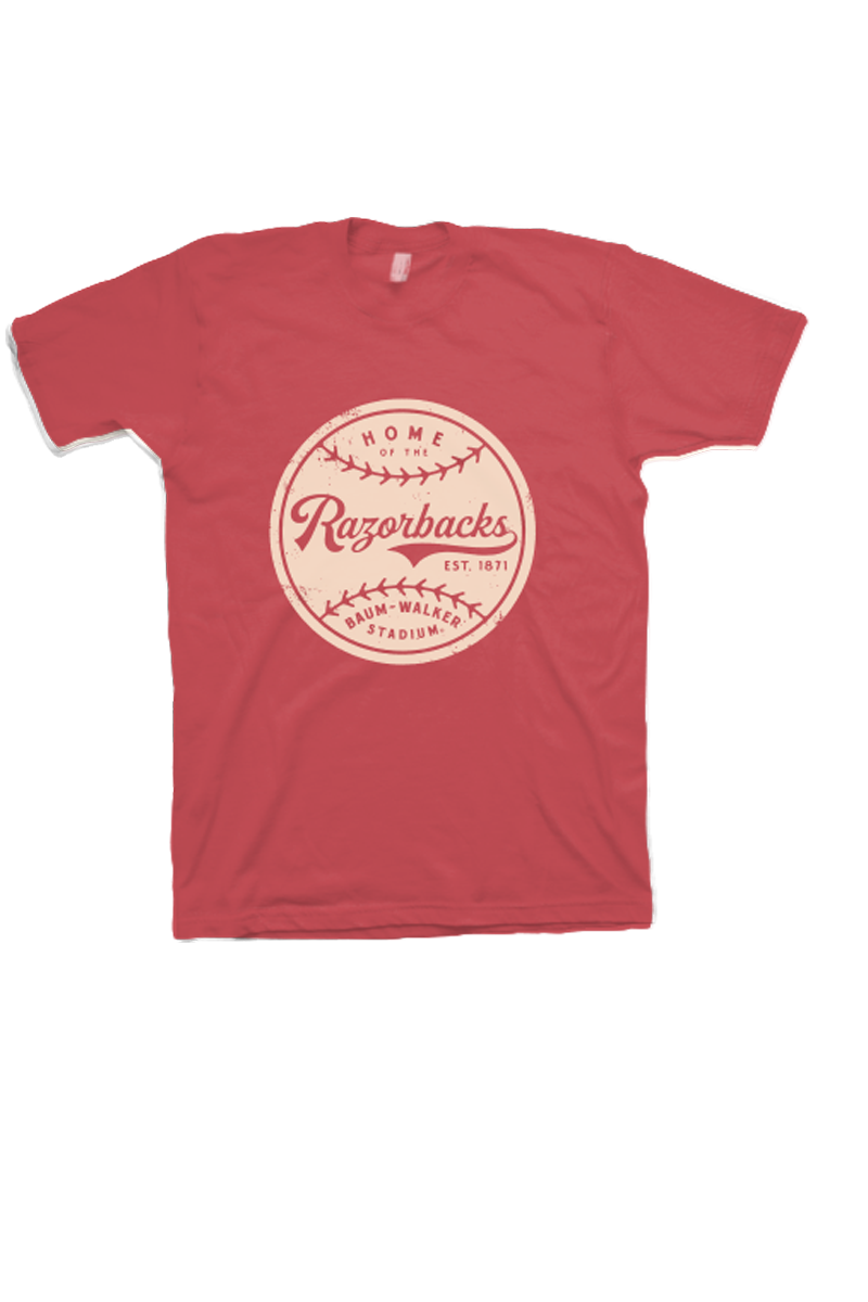 Razorback Baseball T-Shirt Red