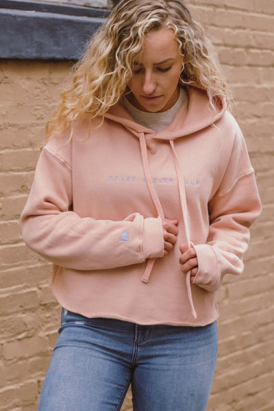 Ozark Hiking Club Cropped Hoodie Peach