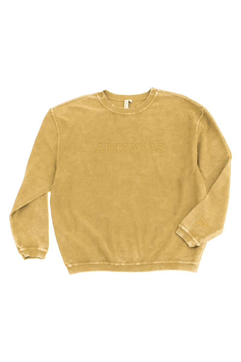 Arkansas Tonal Corded Sweatshirt Yellow