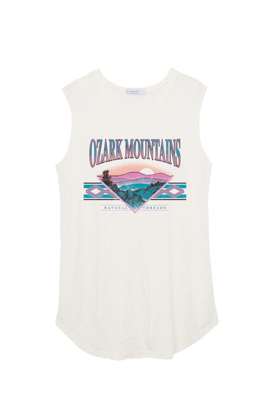 Old School Ozarks Muscle Tank White