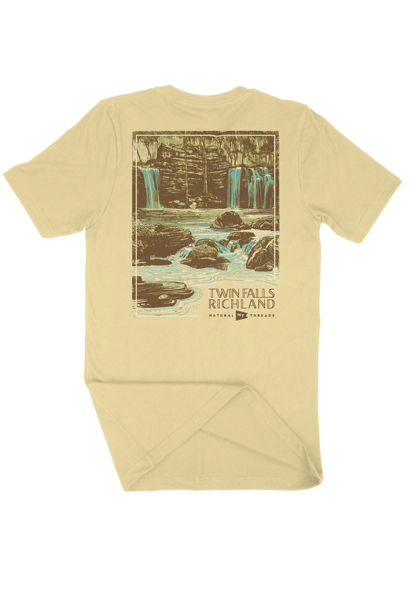 Twin Falls of Richland T-Shirt Yellow