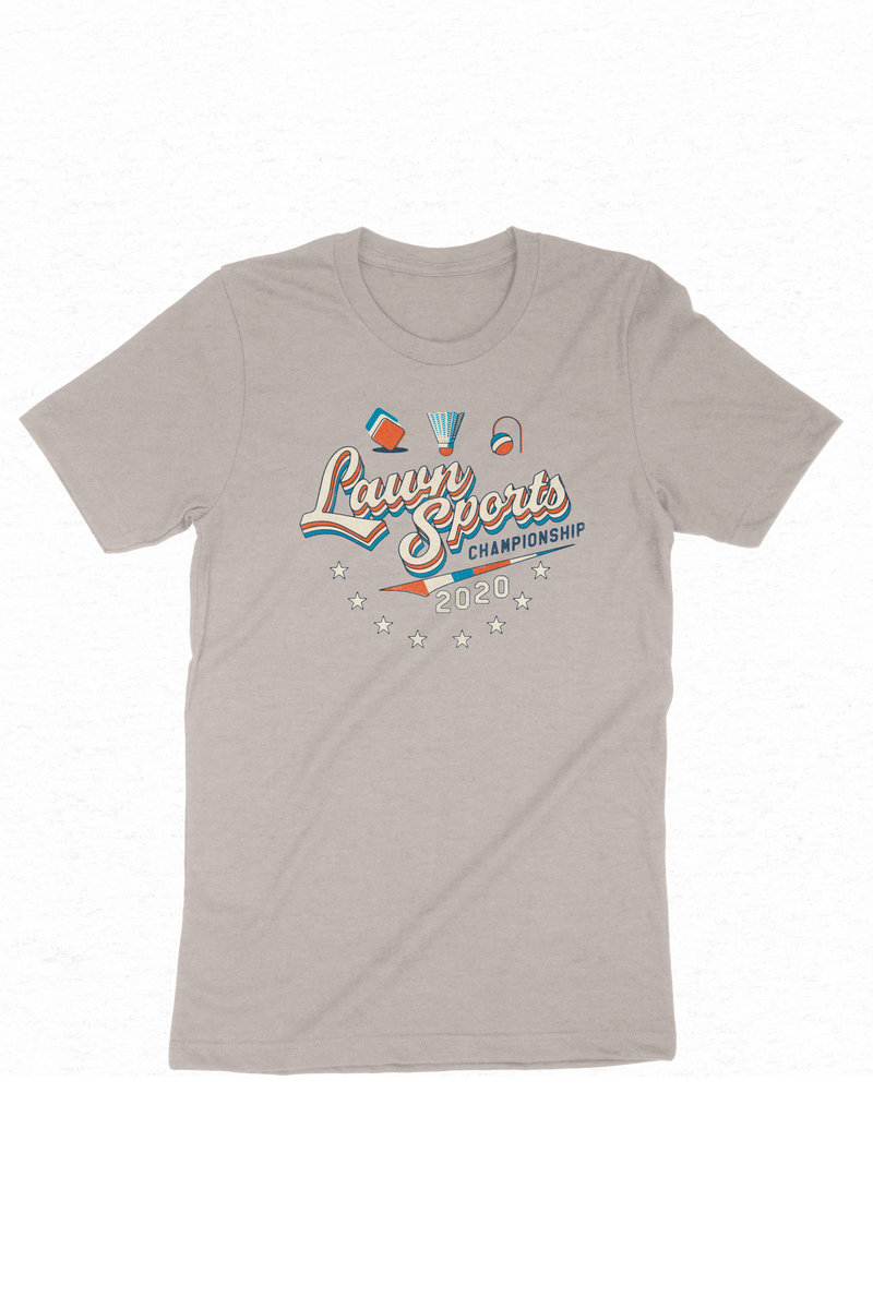 Lawn Champ T-Shirt Heather Dust