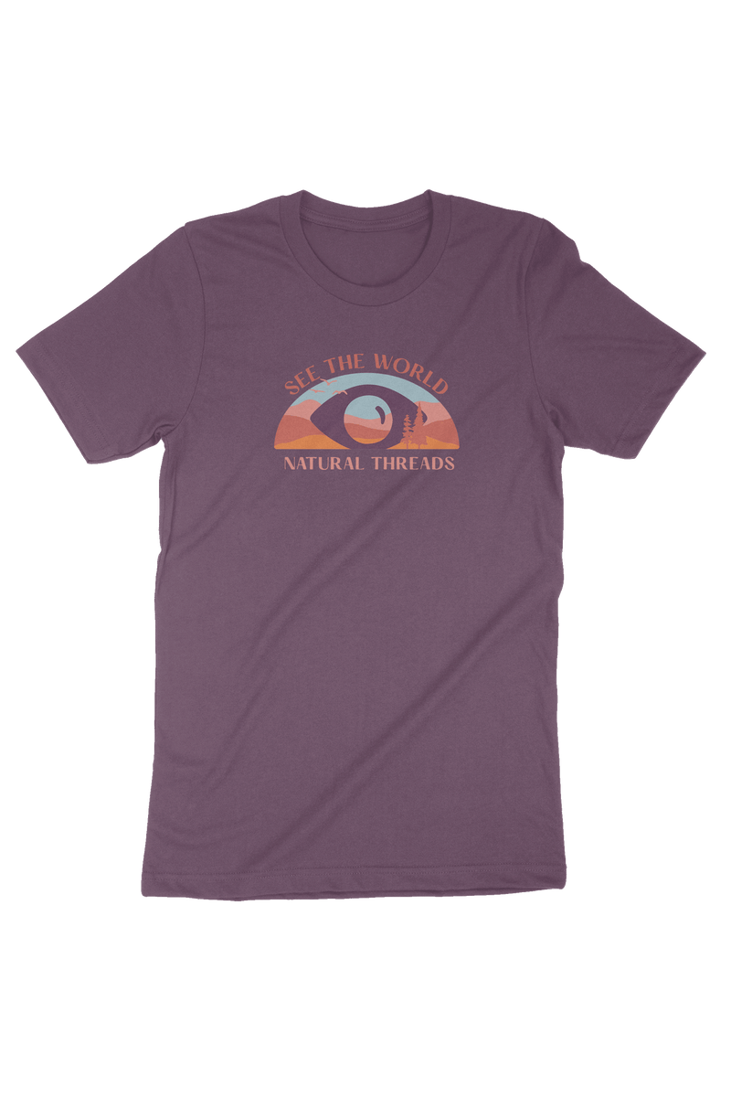 See The World T-Shirt Purple