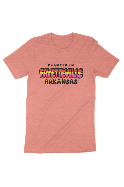 Planted in Fayetteville T-Shirt Sunset
