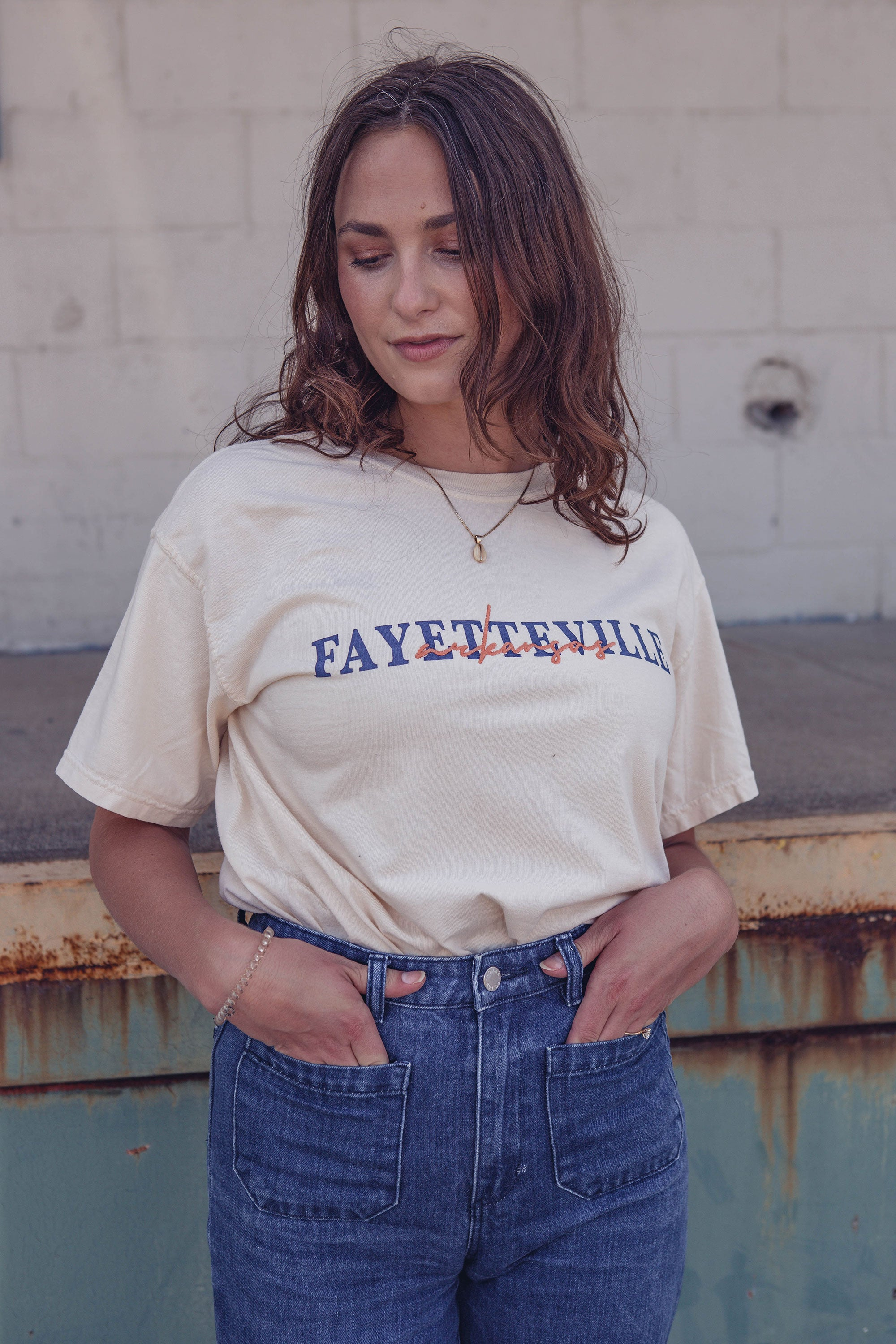 Fay AR Embroidered T-Shirt Ivory