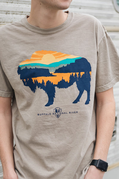 Spirit of the Buffalo T-Shirt Sandstone