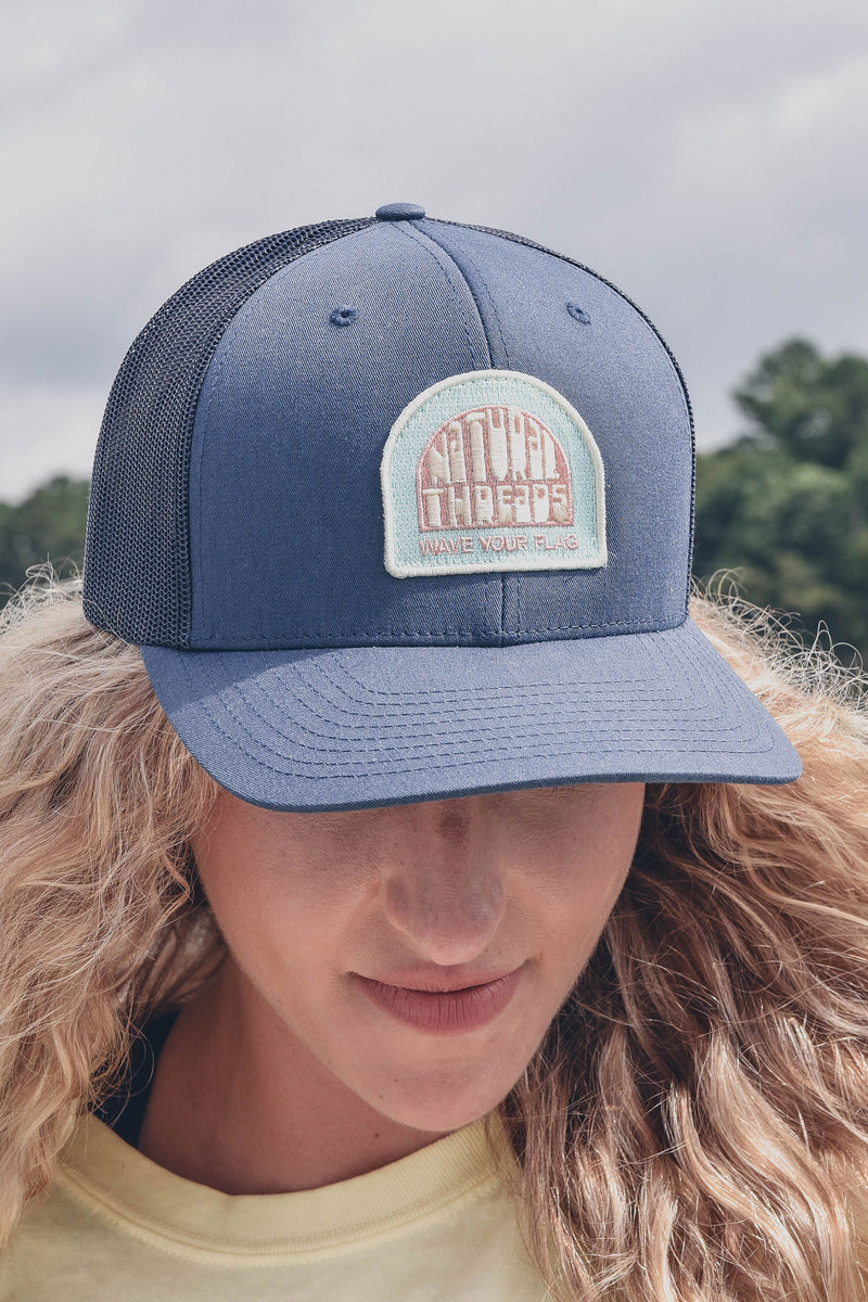 Wave Your Flag Patch Hat Navy
