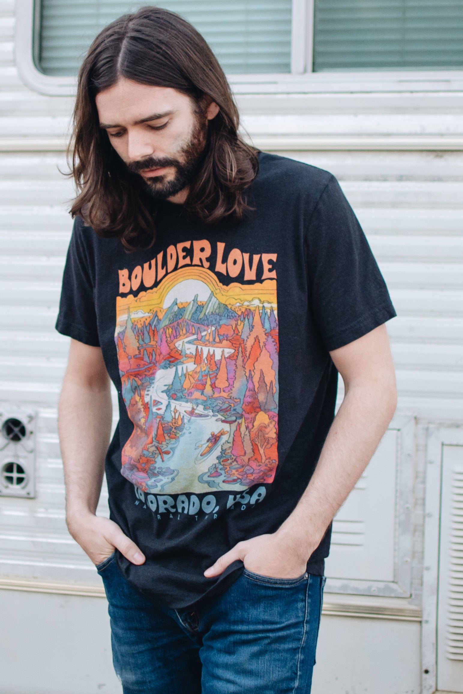 Boulder Love T-Shirt Vintage Black