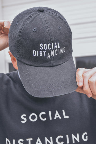 Social Distancing Hat Black