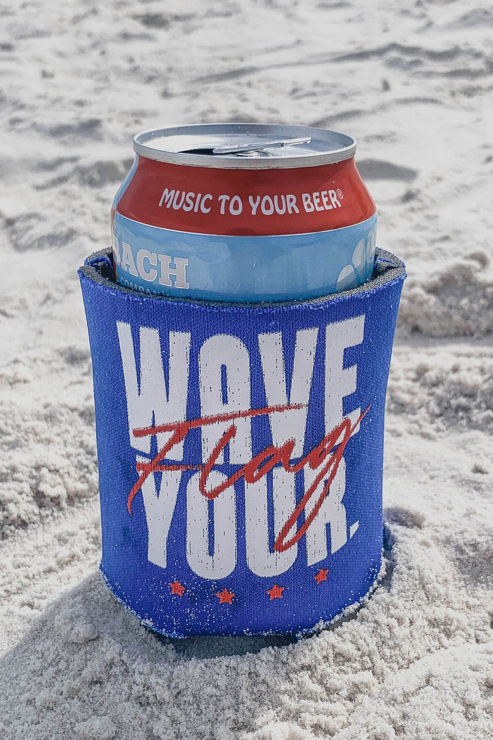 Wave Your Flag Koozie