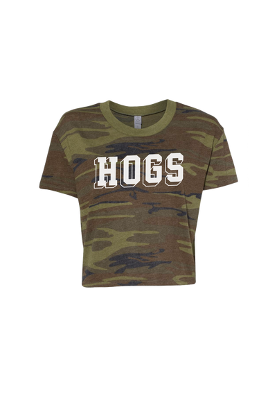 Invisible Hogs Camo Cropped T-Shirt