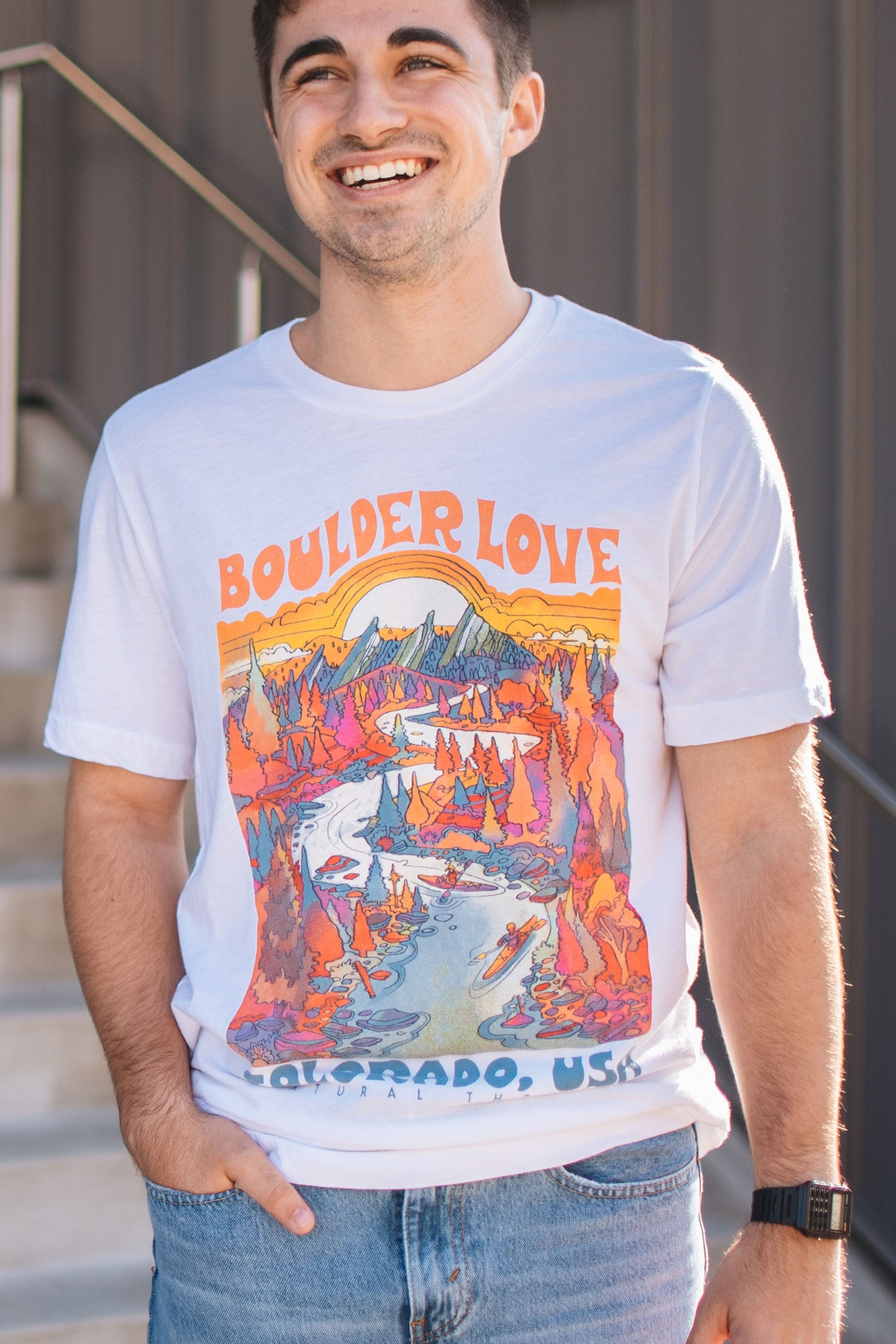 Boulder Love T-Shirt Vintage White