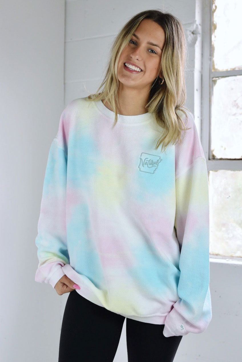 Funky Natural State Sweatshirt Rainbow