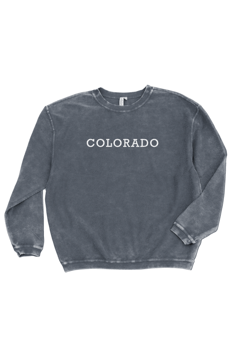 Colorado Corded Crew Sweatshirt