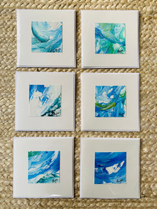 Pack of 6 Coastal Blues