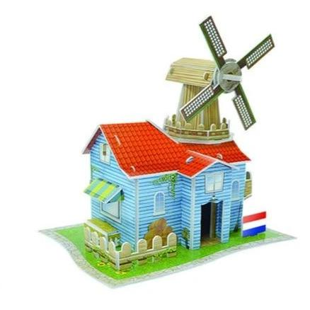Puzzle 3D Moulin Hollandais