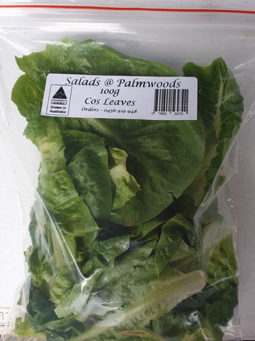 Cos leaves, 100g, prepared