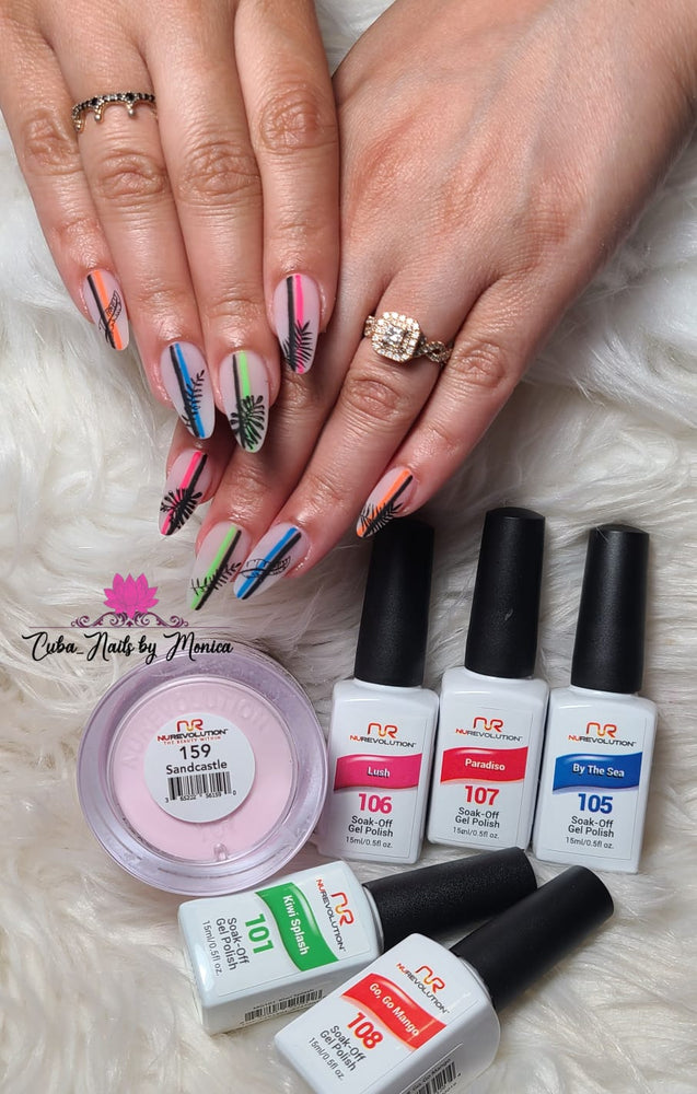 Trio 101 Kiwi Splash Gel & Lacquer