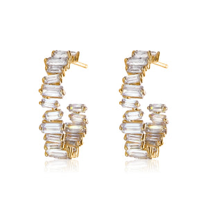 SMALL BAGUETTE HOOPS - limlim-official