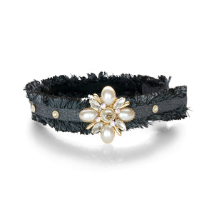 TWEED JEWEL HAIRBAND - limlim-official