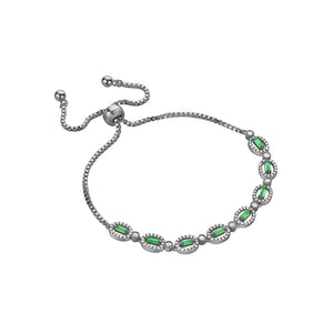 BAGUETTE VINTAGE COLORED CRYSTAL TENNIS BRACELET - limlim-official