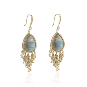 GEM STONE EARRINGS - limlim official