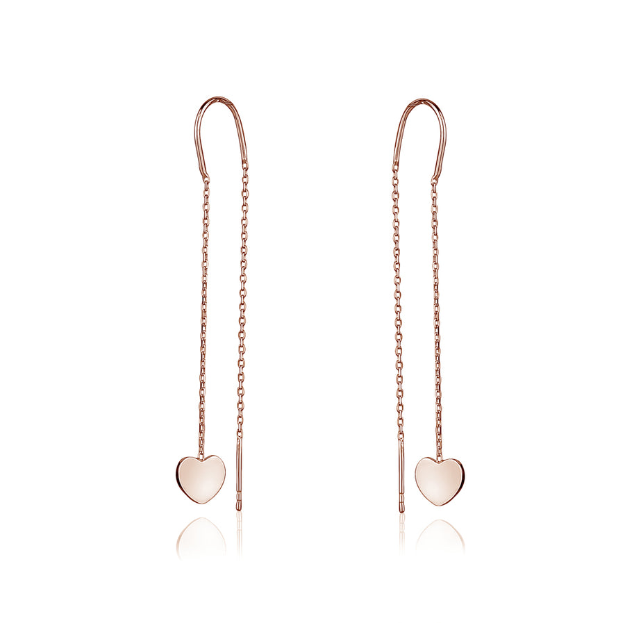 925 SILVER DANGLING HEART EARRING - limlim official