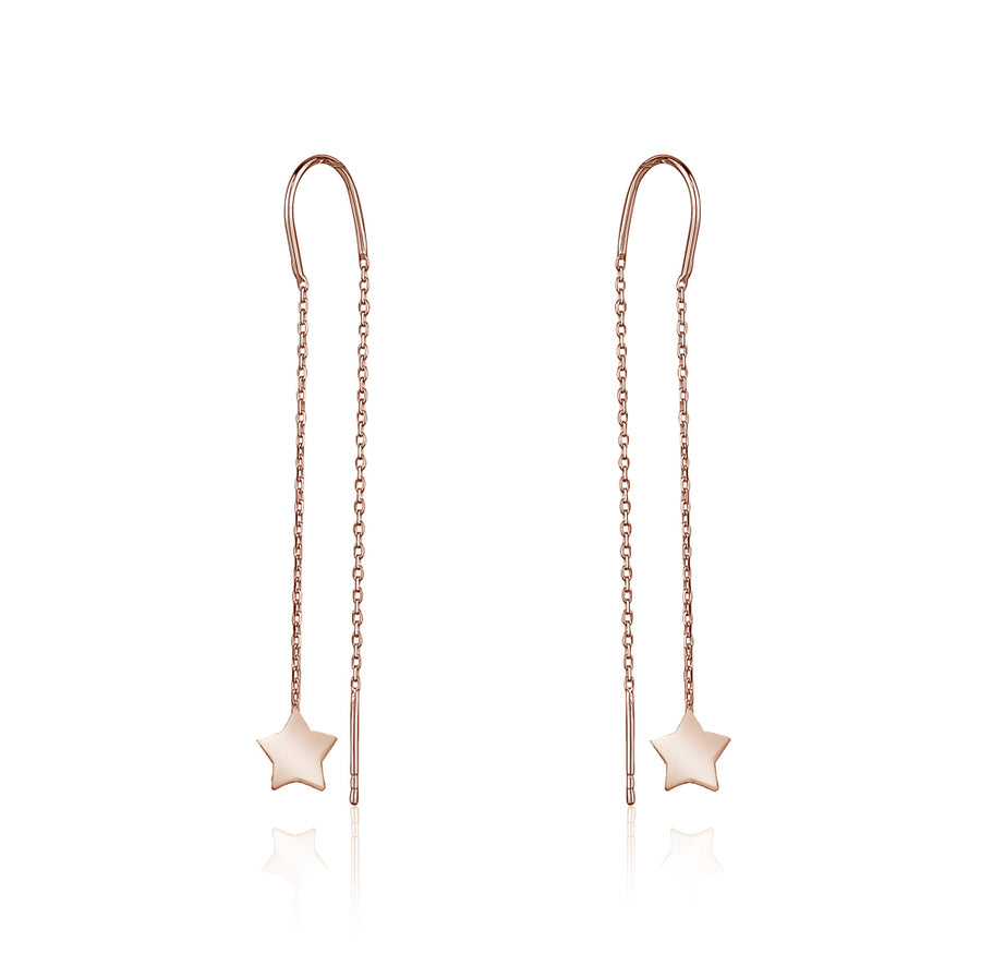 925 SILVER DANGLING STAR EARRING - limlim official