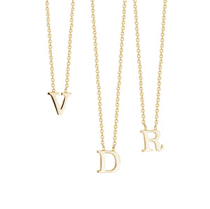 SMALL INITIALS NECKLACE - limlim official